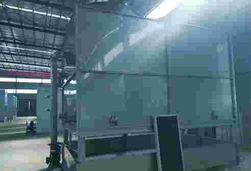 Installed closed cooling tower equipment